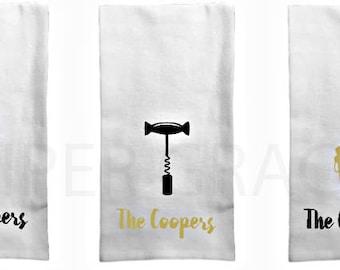 Tea Towel, Kitchen Towel, Dish Towel, Monogram Dish Towel, Hostess Gift Ideas, Hostess Gift, Wedding Gift Ideas, Wedding Shower Gift Ideas