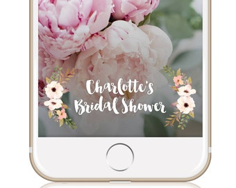 Bridal Shower Snapchat Filter Snapchat Geofilter Floral BRIDAL SHOWER FILTER