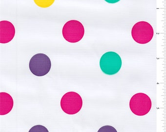 Purple Dot Oilcloth, Fabric By The Yard