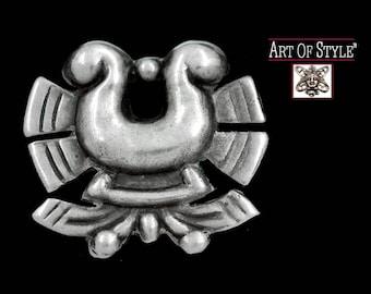WILLIAM SPRATLING Chupamirta Azteca Sterling Silver Brooch or Pin - Pre-Columbian Motif - Las Delicias - Taxco - Vintage 1940's