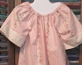 Girls dress, Girls peasant dress, Girls Easter dress, Toddler dress, Baby Girl floral peasant dress, Size 18-24 months, #45, #84