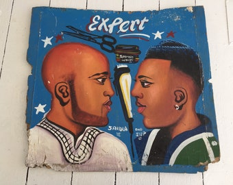 80's/90's West African Caribbean Barbershop Sign