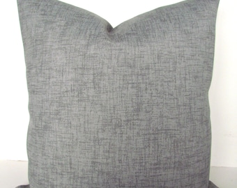 GRAY OUTDOOR PILLOWS Gray Pillow Covers Gray Indoor Outdoor Pillow Covers Solid Grey Decorative pillows 16 18x18 20x20 All Sizes Home Decor