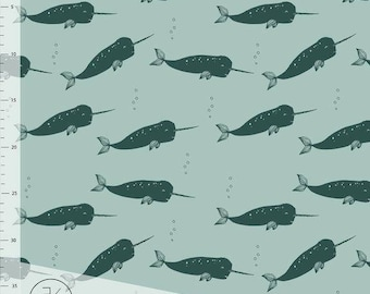 NARWHAL - DUSTY MINT by Elvelyckan Design