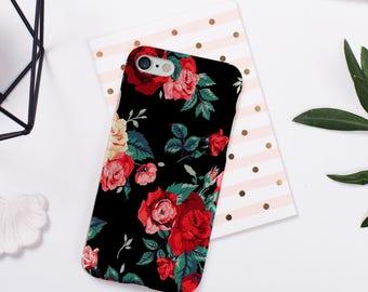 Floral Phone Case iPhone 8 Case iPhone 8 Plus Case iPhone 7 Case iPhone 7 Plus Case iPhone 6 6s 5 5s se case samsung s7 s8 s9 case iphone x
