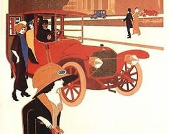 Vintage Merecedes Daimler Motor Car Advert Poster A3/A2 Print