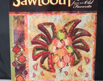 Sawtooth : New Quilts from an Old Favorite, Lasco, Paperback AQS 7615, Quilt Patterns, Book, A3 FREE SHIP