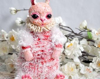 White rabbit art doll, rabbit artist doll,ooak art doll, posable art doll, white rabbit, alice in wonderland, through the looking glass