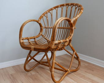 Good Vintage Franco Albini Style Rattan Chair