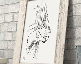 Will it Float? - Winnie the Pooh 11x14 Unframed Nursery Art Print