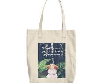 Dog Tote With Quote Reusable Canvas Bag, Reusable Market Tote, Mother's Day Gift, Reusable Shopping Bag, Gift For Her, Made in USA
