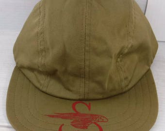 Vintage 1950s Sikorsky Helicopter Cotton Twill Baseball Cap Size medium 7 Aircraft Aviation