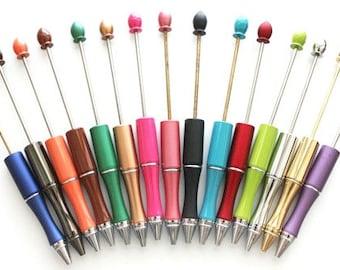 Metal Beadable Pen/beadable Pens/Add-A-Bead Pens - (1 Pen)