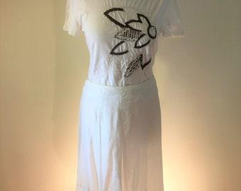 Vintage James Lakeland Adjustable Linen Skirt (and Optional Top Combo)