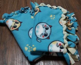 Medium Fleece Tied Pet Blankets