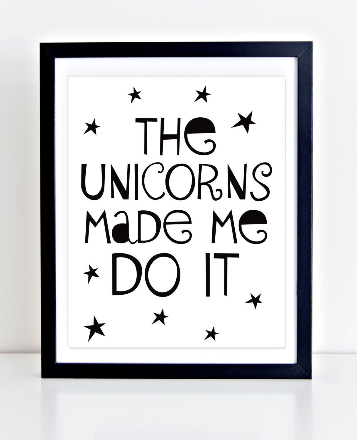 Unicorn Print PRINTABLE Playroom Decor Modern