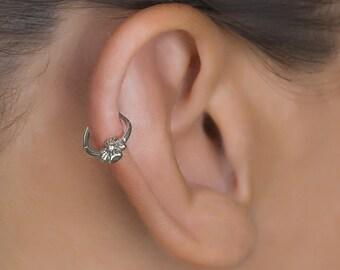 Tiny Hoop Earrings. Cartilage Hoop. Ear Tragus. Sterling Silver Tragus. Helix Earring. Daith Piercing