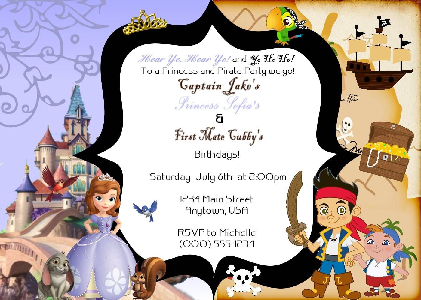 Customized Princess Sofia & Jake the Neverland Pirates