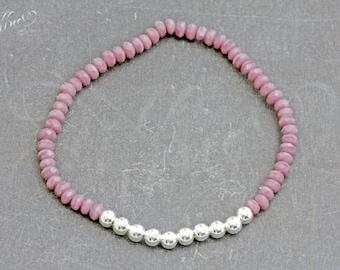 Bracelet * Beads 925 sterling silver * violet * Bracelet Sterling Silver