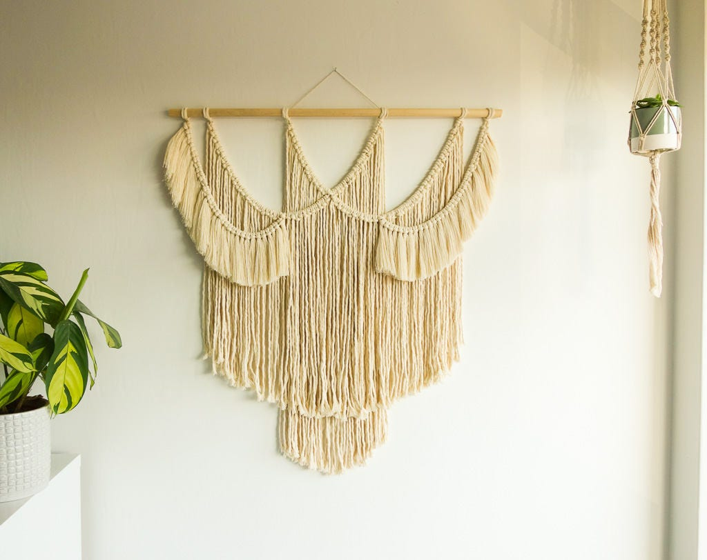 Funky Macrame Wall Art Adornment - The Wall Art Decorations ...