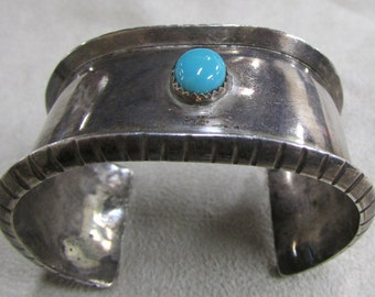 Sterling Silver and Turquoise Small Ladies Cuff Bracelet