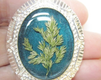 Grasses, Pressed Flower Pendant, Real Flowers, Resin. Pressed Flower Jewelry(1237)