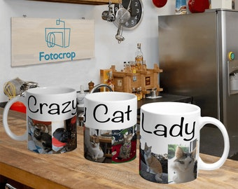 Personalized Coffee Mug White 11oz Collage Custom Photo Text Logo Gift New