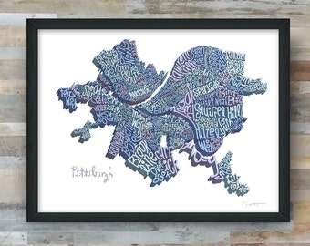 Pittsburgh Neighborhoods Art Print