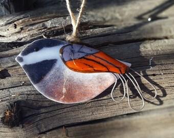 Songbird Fused Glass Ornament