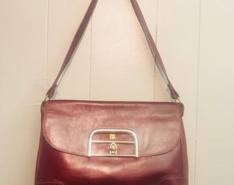 Vintage Maroon Leather Purse
