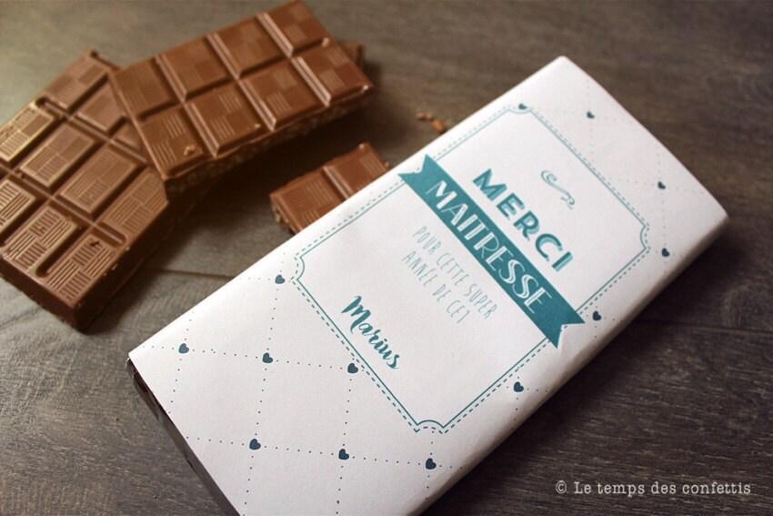 tablette de chocolat personnalisable cadeau original pour. Black Bedroom Furniture Sets. Home Design Ideas