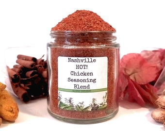 Nashville HOT! Chicken/Poultry Seasoning/Seasoning Blends/Spice Rack/Food Gift/Gifts For Foodies/Foodie Gift/Seasonings Gifts/Chef Gift