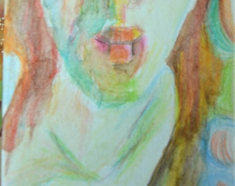 Original ACEO Watercolor Painting- Your Lips