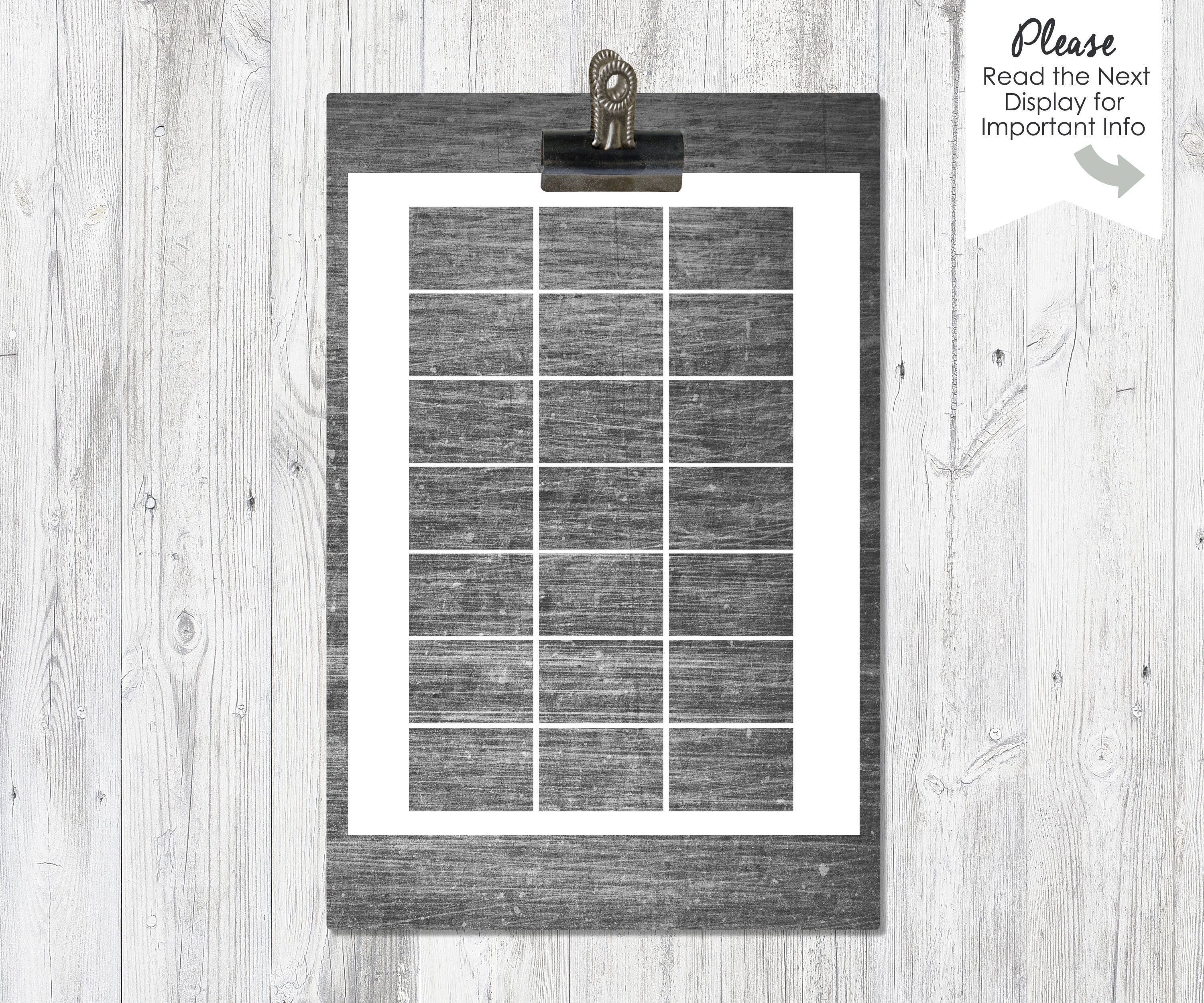 Matchbox Cover Blank Printable Template Instant Download