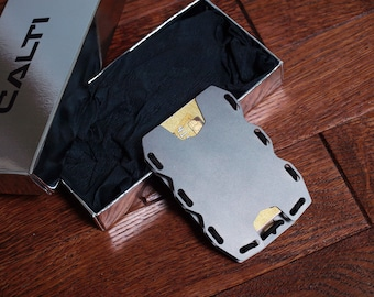 The Almtl Wallet Mens Minimalist Slim Metal Wallet Rfid