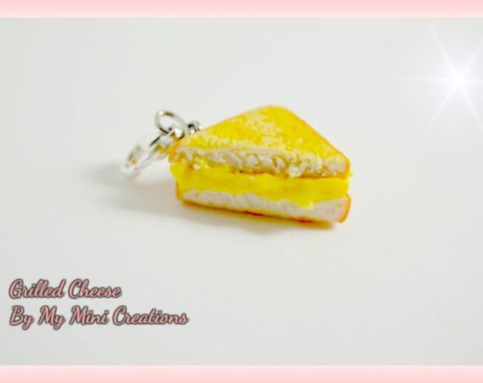 Grill Cheese Sandwich Charm, Miniature Food, Miniature Food Jewelry, Food Jewelry