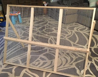 Giant Loom with Rotating Heddle Bar Instructions - Digital Download