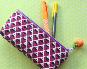 Pen and Pencil Pouch in Berry