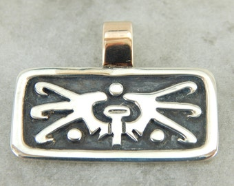 Vintage Mexican Sterling Silver Pendant NCKMC0-D