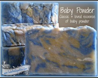Baby Powder - Rustic Suds Natural - Organic Goat Milk Triple Butter Soap Bar - 5-6oz. Each