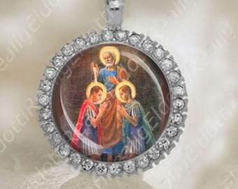 Sts Nereus and Achilleus Medal Pendant Catholic Religious Jewelry