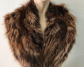 Genuine Real Matilda Color Fox Fur Collar
