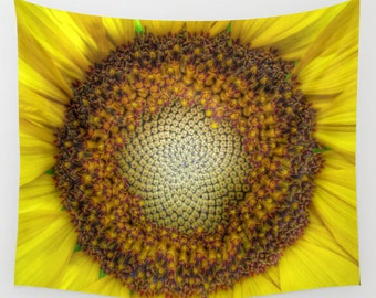 Ghost Sunflower Wall Tapestry, Sunflower Wall Art, Yellow Large Tapestry, Happy Fine Art Photography, Nature, Flower, Outdoor, dorm, office