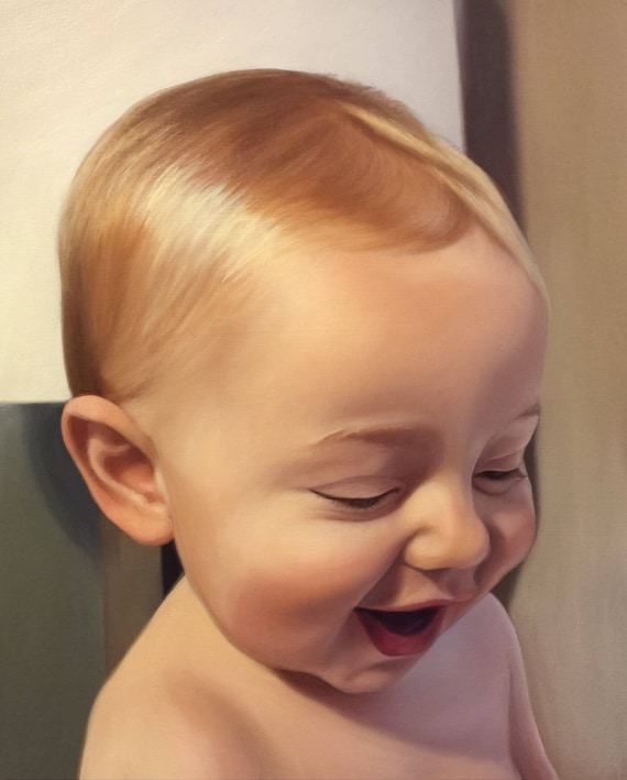 CUSTOM PAINTING - Custom Portrait - Oil Painting - Baby Portrait - Photo to Painting