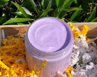 Lavender Vanilla, Handmade Whipped Soap, Fluffy Cream Soap,  Foaming Whipped Soap, 5 Oz.