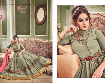 Designer Bollywood Indian/Pakistani Anarkali Salwar Kameez Dupatta Suit.