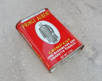 Prince Albert Crimp Cut Tobacco Tin