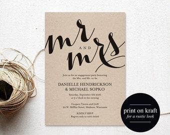 Engagement Party Invitation, Engagement Invitation, Wedding Printable, Engagement Dinner, Wedding Template, PDF Instant Download #BPB133_8