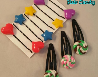 Vanellope Hair Candy - Wreck it Ralph Cosplay, Costume Hair clips.