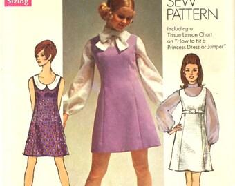 UNCUT 60's Dress with Peter Pan Collar Bust 36 Simplicity 8614